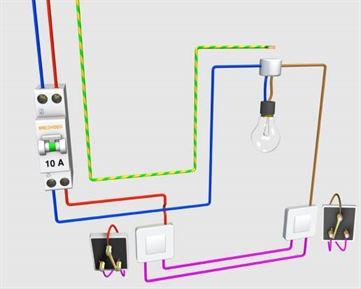 schema electrique va et vient branche technologie