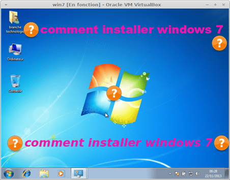 comment installer windows 7