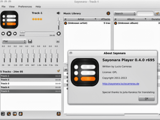 Sayonara  Audio  Player