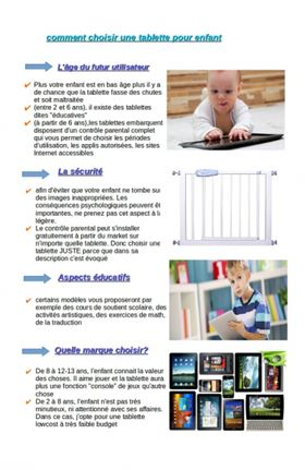 guide achat tablette tactile